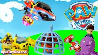Paw Patrol Nickelodeon Sea Patrol Rescue Sweetie Trapped Zuma's Cousin and Paw Patrol Saved The Day