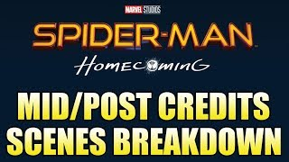 Spider Man: Homecoming - Mid/Post Credits Scenes Breakdown
