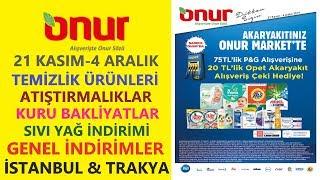 Gambar cover ONUR MARKET 21 KASIM - 4 ARALIK 2019 İSTANBUL & TRAKYA İNDİRİMLERİ / ONUR MARKET TEMİZLİK ÜRÜNLERİ
