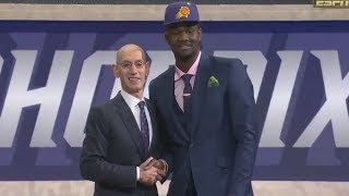 2018 nba draft 1 pick deandre ayton cavs select