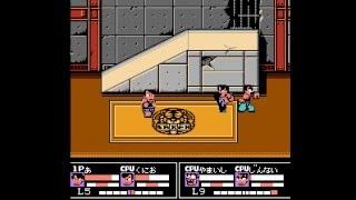 NES Longplay [609] Nekketsu Kakutou Densetsu (2 Player)