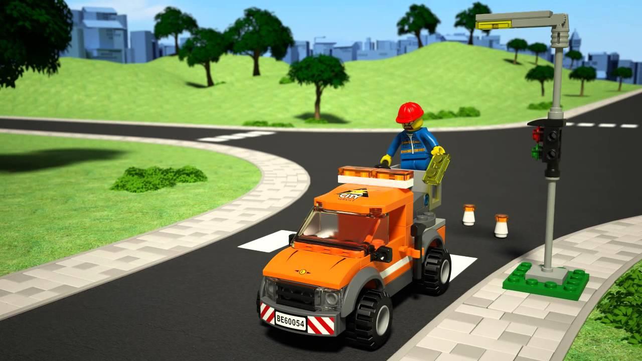 Lego 174 City Light Repair Truck 60054 Youtube