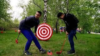 Самый весёлый гость мероприятия играет в SNAG гольф golf | 2025golf