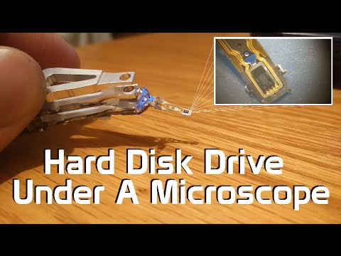 Hard Disk Drive Under A Microscope - Head Slider