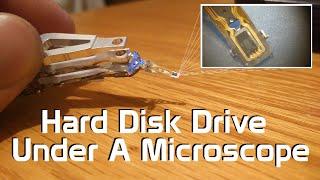 Hard Disk Drive Under A Microscope - Head Slider