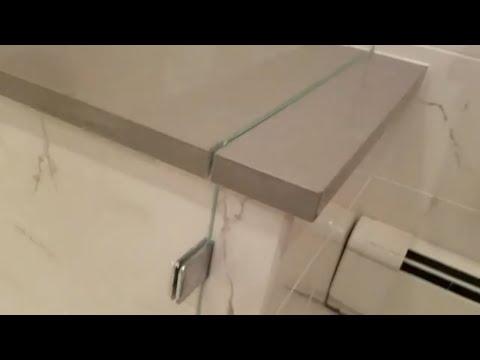 Frameless shower door installation in Park Ridge NJ