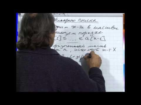 Лекция 72: Применение схемы инварианта цикла в алгоритме бинарного поиска