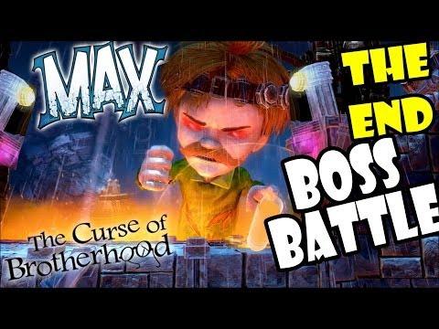 Let's Play Max, Curse of Brotherhood: Final Boss Battle (THE END) SuperEvilHeroMustachoFelixBrine