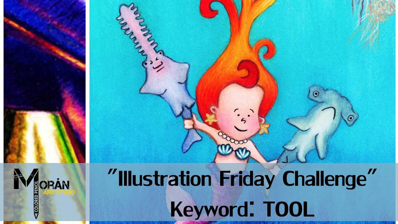 Colored Pencil - Watercolor Children`s Book Art. Illustration Friday ...