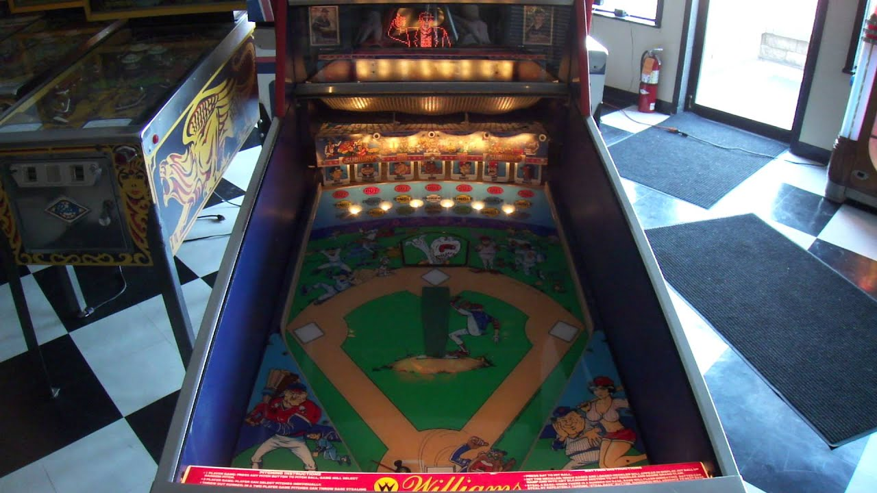 1992 Williams Slugfest Baseball Pinball Machine Saskatoon 1080p HD