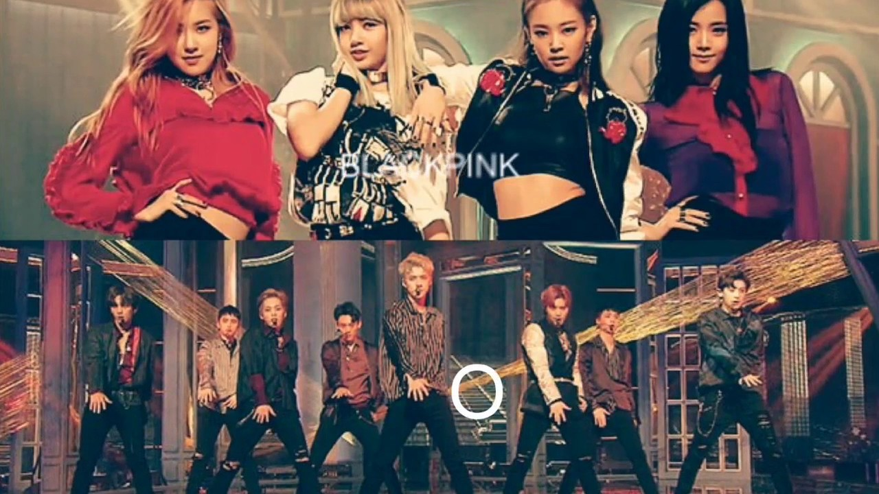 Imagini pentru exo and black pink