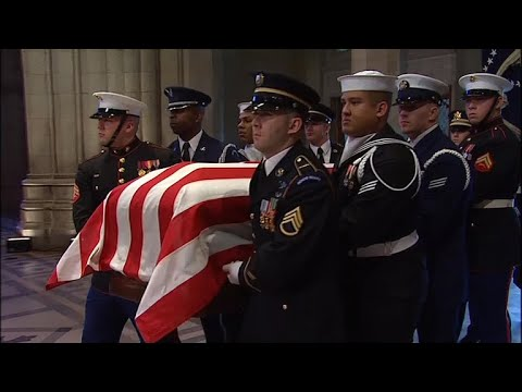 Former President George H.W. Bush honored at state funeral