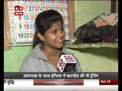 Women from Delhi slums training to become commercial drivers