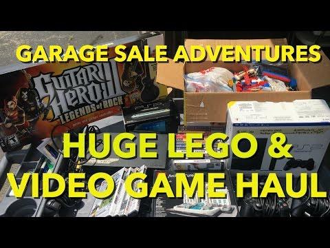 Garage Sale Adventures-HUGE LEGO & VIDEO GAME HAUL!