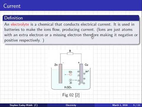 Physics   Electricity   Current and Charge   Lesson   Wed 22 Nov 2017 09:04:56 AM GMT