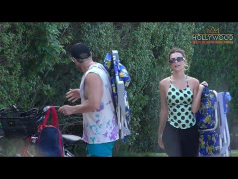 Emily Ratajkowski Enjoys a Beach Day in The Hamptons with husband Sebastian Bear-McClard