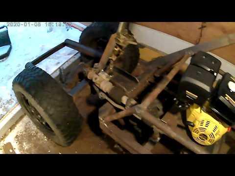 самоделный трактор переломка