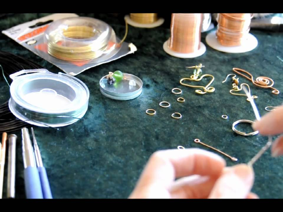 HOW TO BEGIN BASIC WIRE WRAPPING AND JEWELRY MAKING #2, - YouTube
