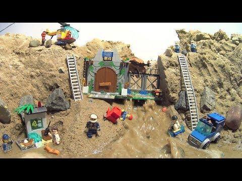 LEGO Jurassic World - Dam Breach Film. Two Parts!