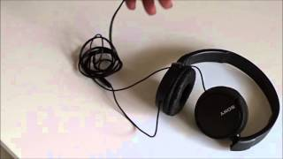 Sony Stereo Headphones MDR ZX110AP نظرة سريعة على سماعة سوني