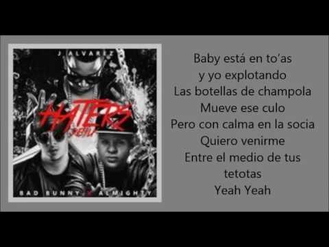 J Alvarez - Haters (Remix) ft. Bad Bunny, Almighty | El Conejo Malo (letra)