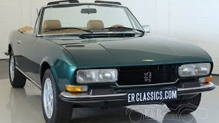Peugeot 504 V6 Cabriolet, 1976, Pininfarina, very good condition -VIDEO- www.ERclassics.com