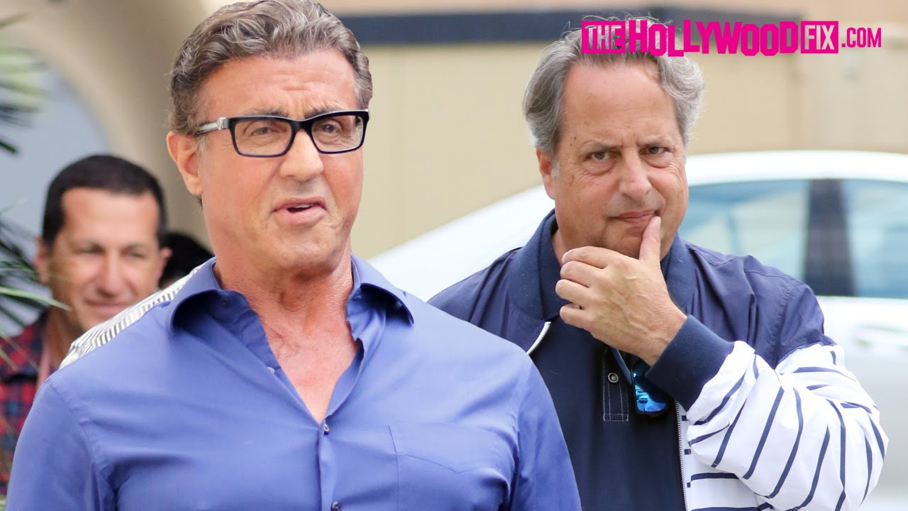 Sylvester Stallone Runs Into Jon Lovitz While Greeting Fans After Lunch In  Beverly Hills 5 7 16