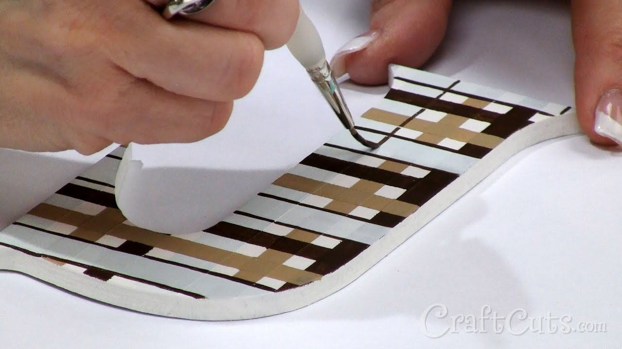 how to paint plaid on wood letters