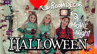 HALLOWEEN ROOMTOUR & GIRLS MOVIE NIGHT BFF PARTY I MaVie Noelle