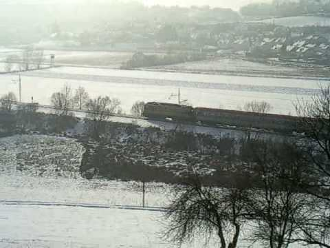 Vlak Dunaj-Maribor pri Pesnici 17.01.2009