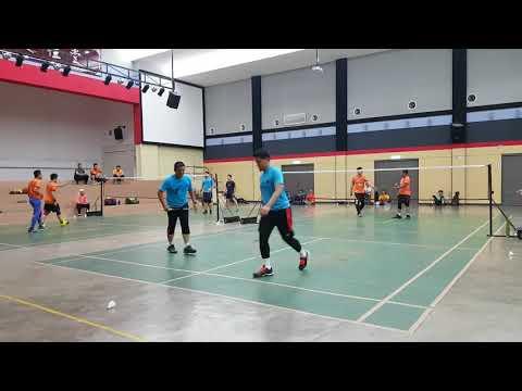 Badminton Friendly Match SALEH & EDDY VS FBT KERAMAT (second Game)