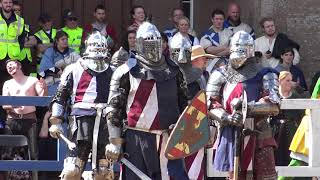 TEAM USA Medieval Knights v FINLAND in 5 v 5 finals IMCF 2018 World Championship in Scotland