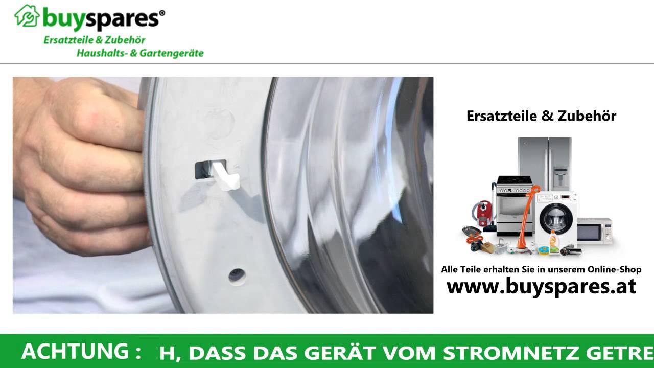 Gut gemocht So repariert man eine festklemmende Waschmaschinentür - YouTube HP64