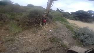 fecon mulching head on cat315d
