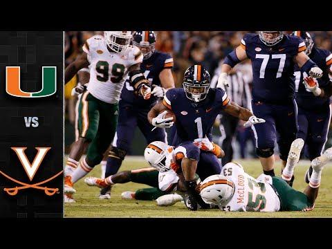 Miami vs. Virginia Football Highlights (2018)