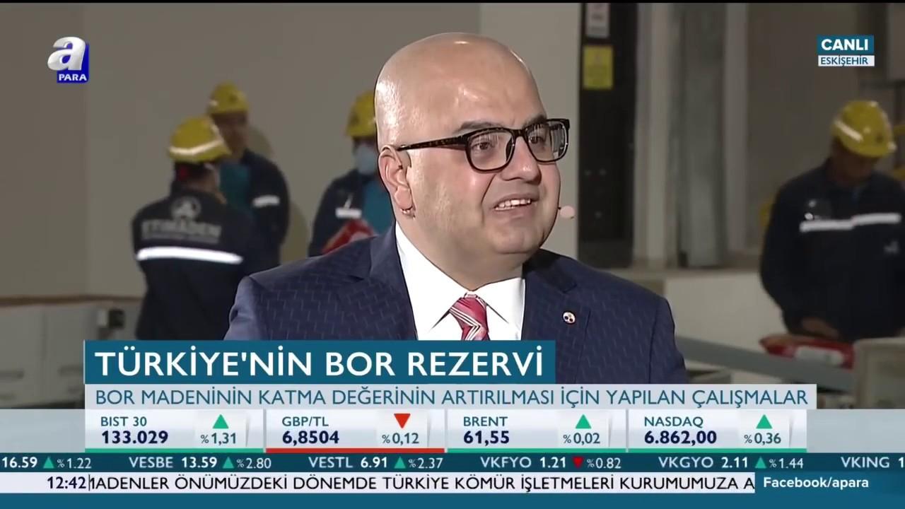 Eti Maden Genel Müdürü Serkan Keleşer'in Enerji Hattı Programı Konuşması - A Para - YouTube