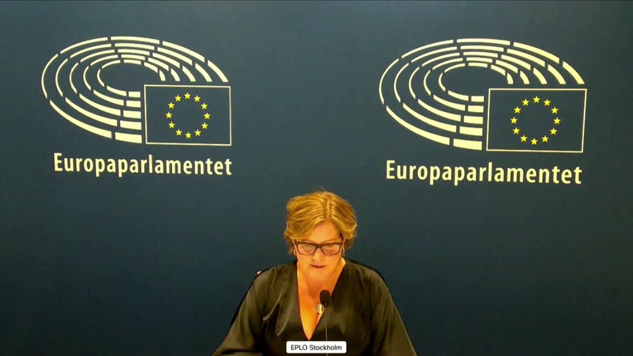 Karin Karlsbro 21 Oct 2020 plenary speech on Deforestation