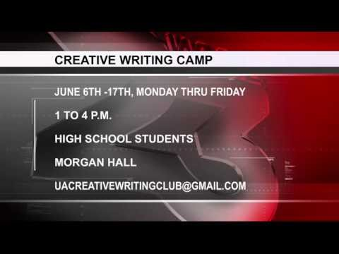 ALABAMA OFFERING HIGH SCHOOL STUDENTS CREATIVE WRITING CAMP