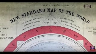 Time zones, Perspective and day/night on a flat earth explained using the Gleason map