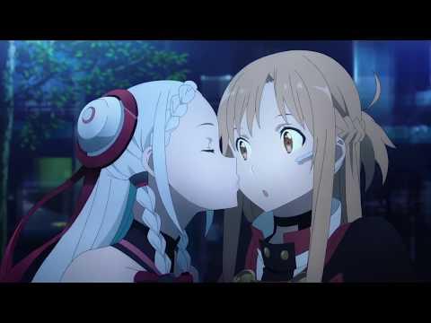 Sword Art Online Ordinal Scale - Yuna Kiss Asuna Scene (Asuna Funny Moment) [Sub Indo]