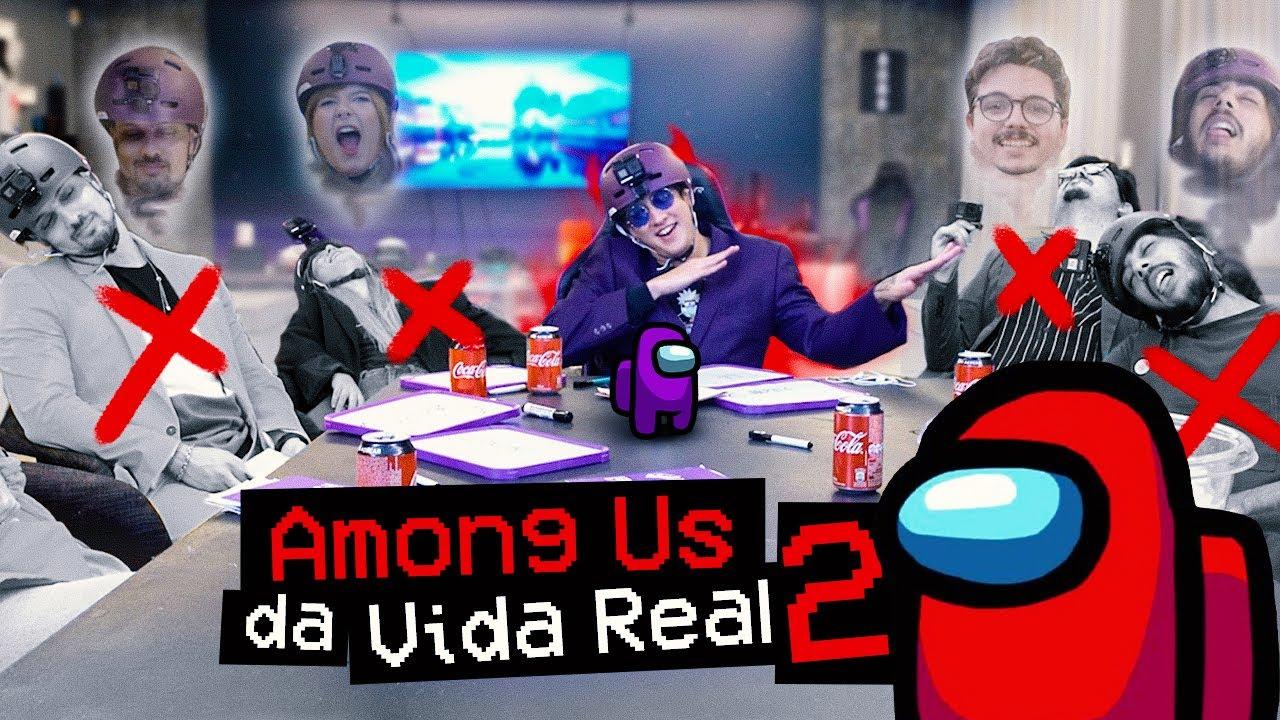 AMONG US DA VIDA REAL 2! COM TASKS NA MANSÃO INTEIRA!