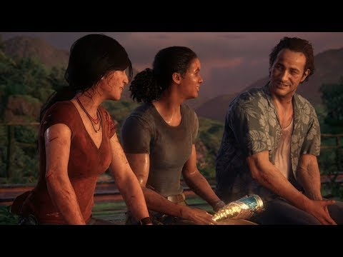 UNCHARTED: The Lost Legacy - All Cutscenes with Sam Drake