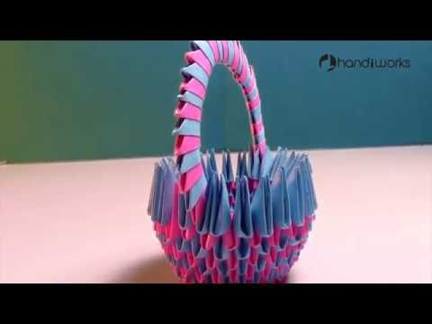 How TO make a Paper Basket ,Paper Design Hand Craft