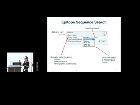 Immune Epitope Database (IEDB) 2015 User Workshop - Finding Data Home page search