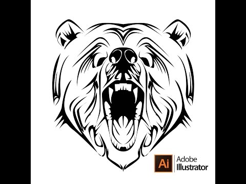 How To Make Tribal Bear Tattoo On Adobe Illustrator CS6
