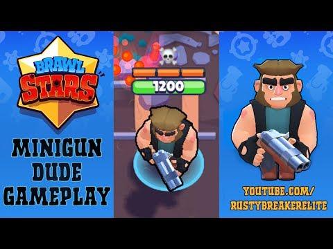 Brawl Stars - Gameplay Minigunner (Machine Gun Dude) Novo Personagem!