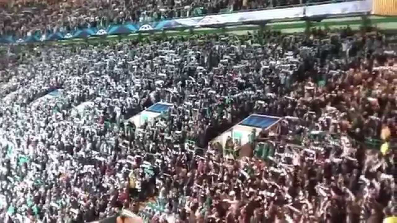 Celtic Fans You'll Never Walk Alone - CL - Celtic vs  Barcelona 2:1 -  07 11 2012