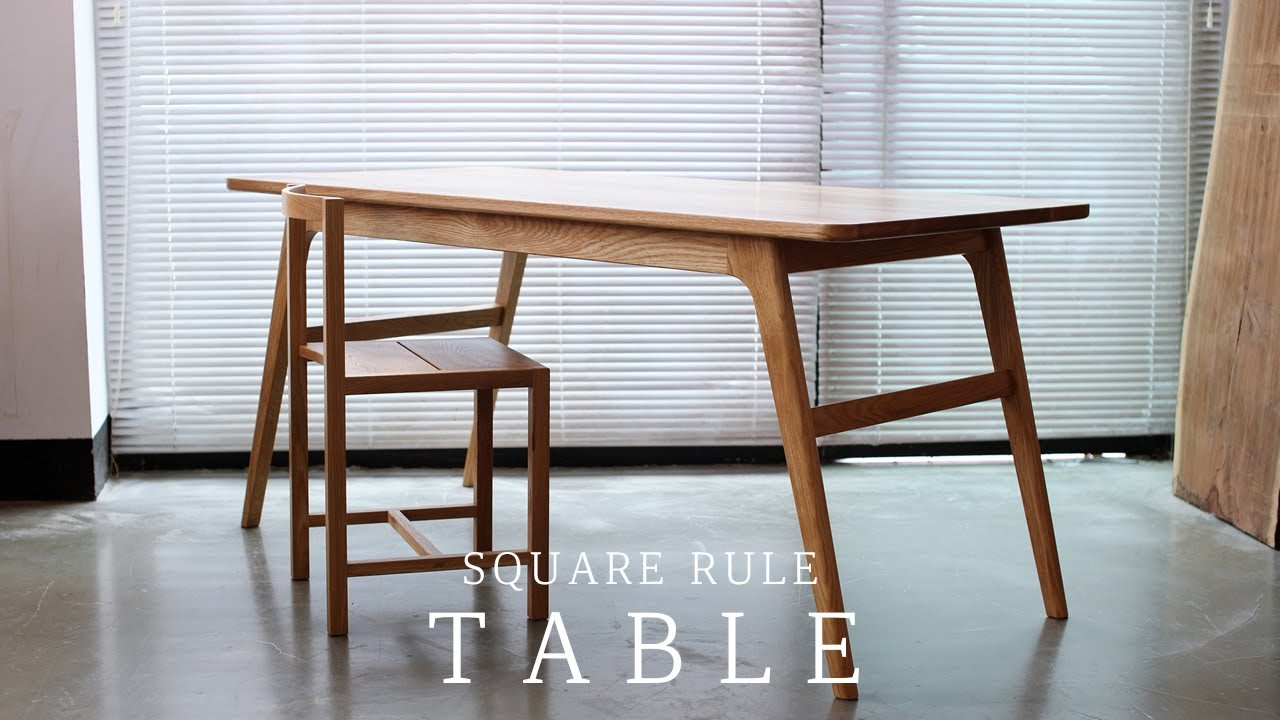 SQUARERULE FURNITURE - Making Horse Leg Table