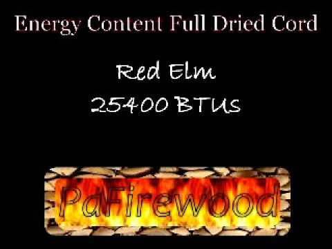 PAFirewood  Common Firewood BTU s Per Cord Pittsburgh Surrounding Area