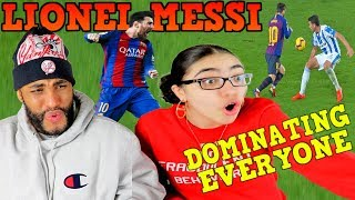 Lionel Messi Dominating Everyone 2019! Dribbling Skills & Goals REACTION